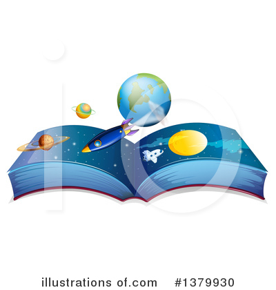 Open Book Clipart #1379930 by Graphics RF