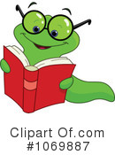 Book Worm Clipart #1112003 - Illustration by yayayoyo