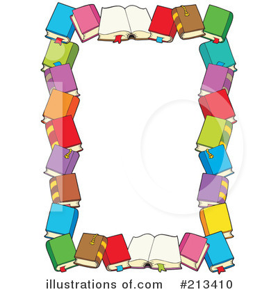 Books Clipart #213410 - Illustration by visekart