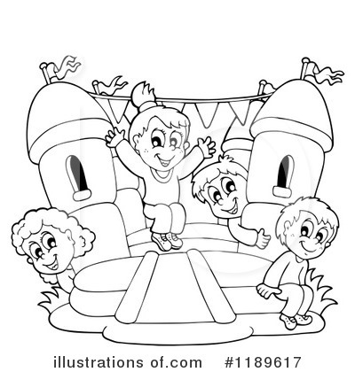 Bounce House Clipart 1189617 Illustration by visekart