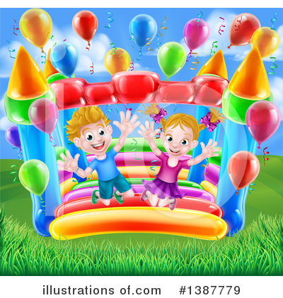 Party Balloons Clipart #1387779 by AtStockIllustration