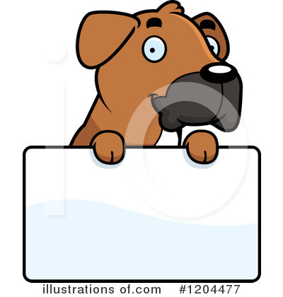 Dog Clipart #1204477 by Cory Thoman