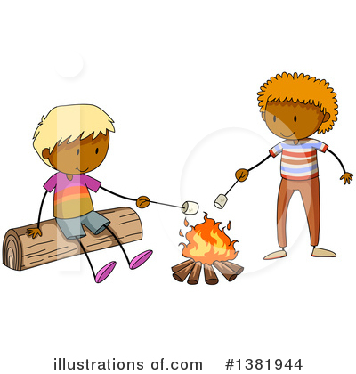 Campfire Clipart #1381944 by Graphics RF