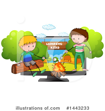 Campfire Clipart #1443233 by Graphics RF
