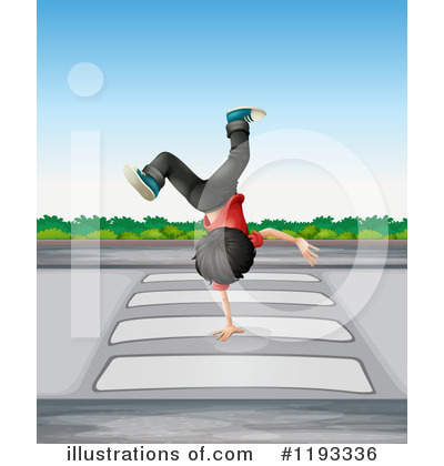 Break Dancing Clipart #1193336 - Illustration by colematt