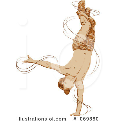 Breakdancing Clipart #1069880 - Illustration by Paulo Resende