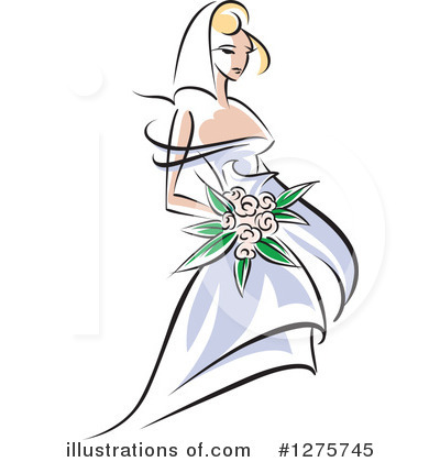Bride Clipart #1275745 by Vector Tradition SM