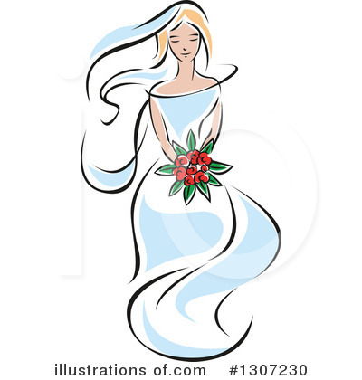 Bride Clipart #1307230 by Vector Tradition SM