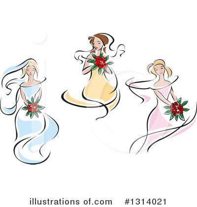 Bride Clipart #1314021 by Vector Tradition SM