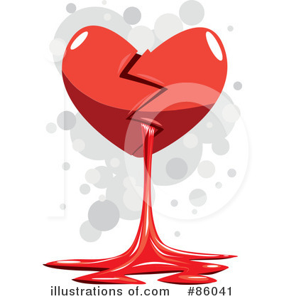 Broken Heart Clipart #86041 - Illustration by mayawizard101