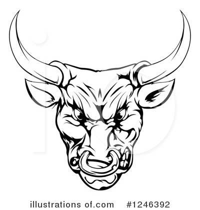 Bull Clipart #1246392 by AtStockIllustration