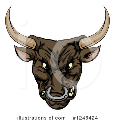 Bull Clipart #1246424 by AtStockIllustration