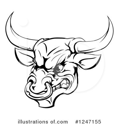 Bull Clipart #1247155 by AtStockIllustration