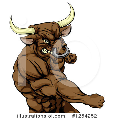 Bull Clipart #1254252 by AtStockIllustration