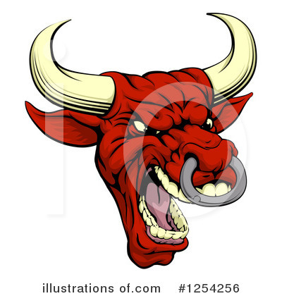 Bull Clipart #1254256 by AtStockIllustration