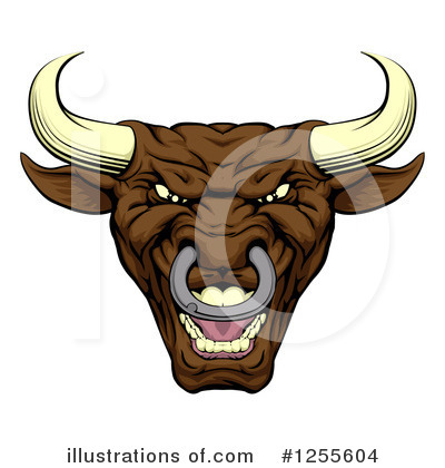 Bull Clipart #1255604 by AtStockIllustration