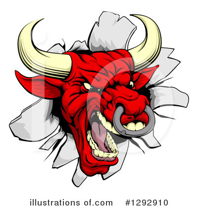 Bull Clipart #1292910 by AtStockIllustration