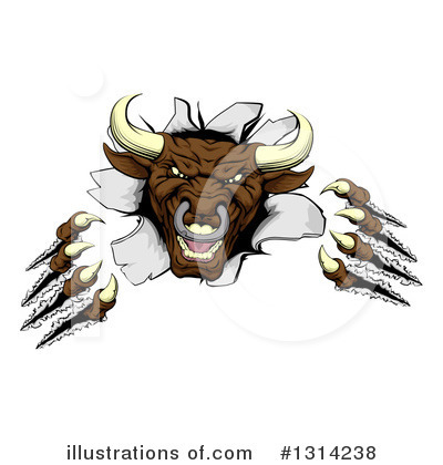 Bull Clipart #1314238 by AtStockIllustration