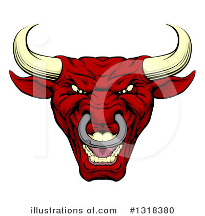 Bull Clipart #1318380 by AtStockIllustration