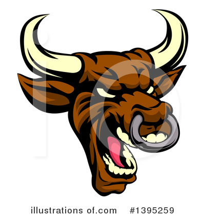 Bull Clipart #1395259 by AtStockIllustration