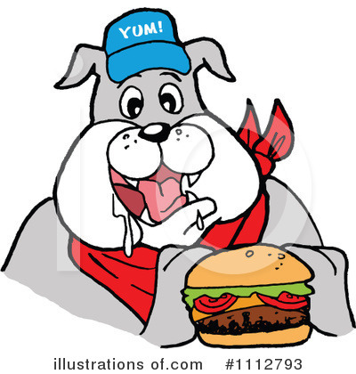 Bulldog Clipart #1112793 by LaffToon