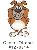 Bulldog Clipart #1278914 by Dennis Holmes Designs