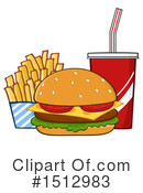 Burger Clipart #1512983 by Hit Toon