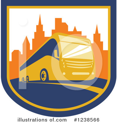Royalty-Free (RF) Bus Clipart Illustration by patrimonio - Stock Sample #1238566