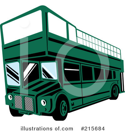Royalty-Free (RF) Bus Clipart Illustration by patrimonio - Stock Sample #215684