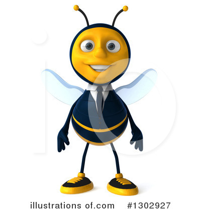 Royalty-Free (RF) Business Bee Clipart Illustration by Julos - Stock Sample #1302927