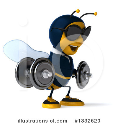 Business Bee Clipart #1332620 by Julos