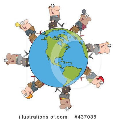 Businessman Clipart #437038 by Hit Toon