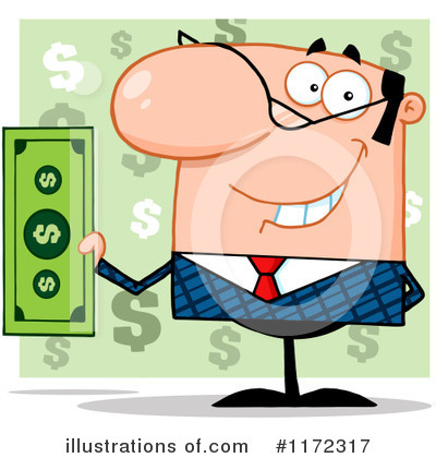 Businessman Clipart #1172317 by Hit Toon