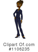 Businesswoman Clipart #1106235 by Cartoon Solutions