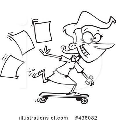Skateboarding Clipart 1106358 Illustration By Toonaday