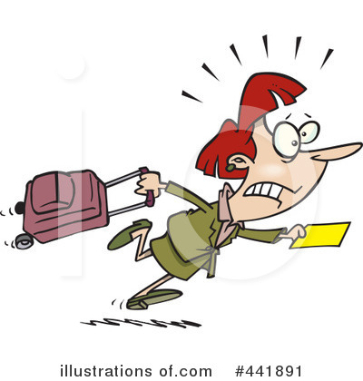 Running Late Clipart 443000 Illustration By Toonaday