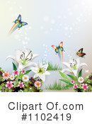 Butterfly Background Clipart #1102419 by merlinul