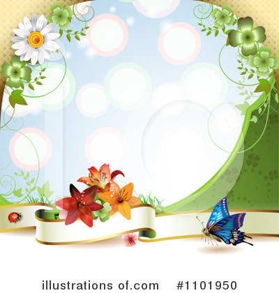 Royalty-Free (RF) Butterfly Clipart Illustration by merlinul - Stock Sample #1101950