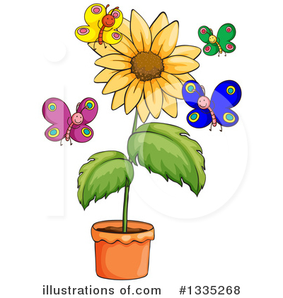 Sunflower Clipart #1335268 by Graphics RF