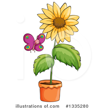 Sunflower Clipart #1335280 by Graphics RF