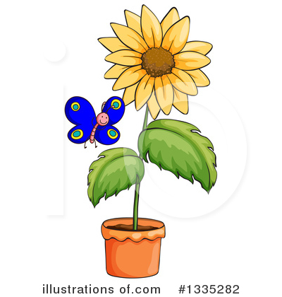 Sunflower Clipart #1335282 by Graphics RF