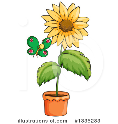 Sunflower Clipart #1335283 by Graphics RF