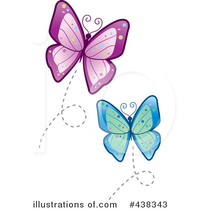 butterfly clipart 438343 illustration by cory thoman rh illustrationsof com Free Flower Clip Art Free Cute Butterfly Clip Art