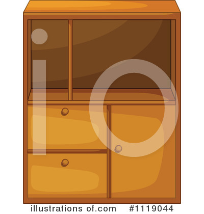 Cabinet Clipart #1119044 - Illustration by Graphics RF