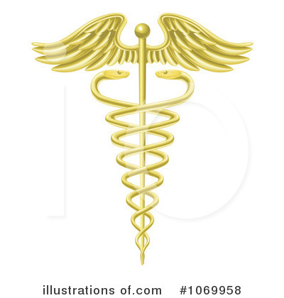 Caduceus Clipart #1069958 by AtStockIllustration