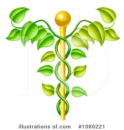 Caduceus Clipart #1080221 by AtStockIllustration