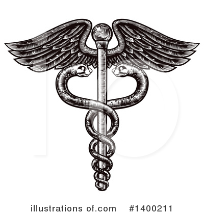 Caduceus Clipart #1400211 by AtStockIllustration