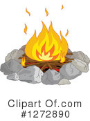 Camp Fire Clipart #1272890 by Pushkin