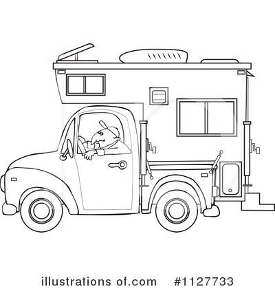rv coloring pages - camper clipart 1127733 illustration by djart