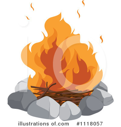 Royalty-Free (RF) Campfire Clipart Illustration by Graphics RF - Stock Sample #1118057